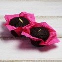 Bezlepkový cizrnový muffin s kakaem holandského typu
