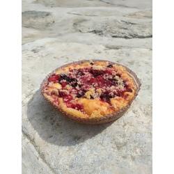 Bezlepkový koláč s drobenkou Liška - lesní směs